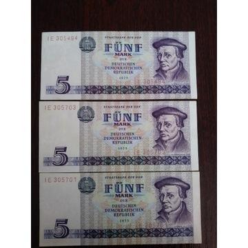 Zestaw banknotow 5 marek