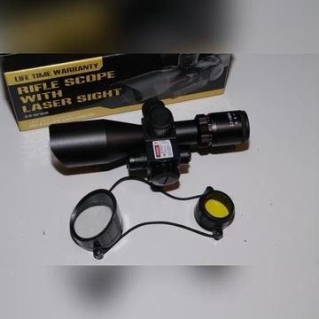 Krótka luneta taktyczna 2,5-10X40 z laserem