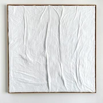 płaskorzeźba relief obraz 80x80cm abstrakcja