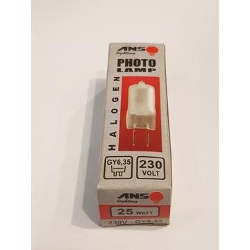 PhotoLAMP żarówka halogenowa GY6,35 25W 230V mat.