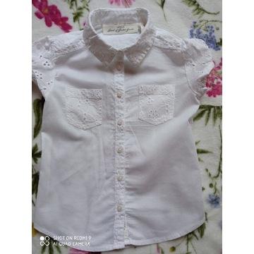H&M biała wizytowa bluzeczka koszulka 104/110
