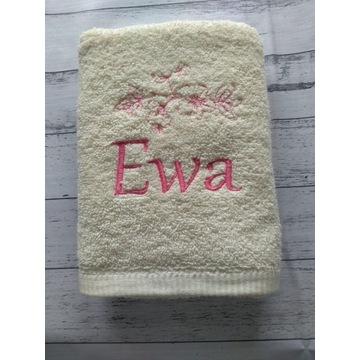 Ręcznik 50x100 z haftem imię Ewa