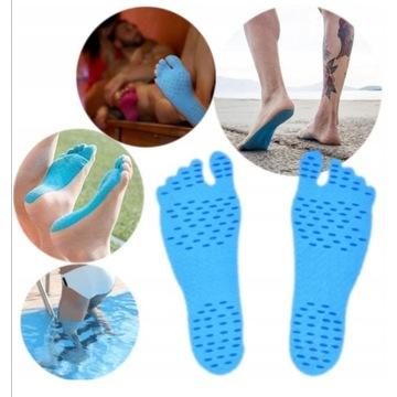 Antypoślizgowe naklejki na stopy