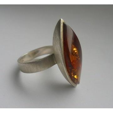 ARTYSTYCZNY pierścionek MINIMALISTYCZNY design