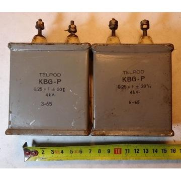 Kondensatory KBG-P 0,25uF 4kV 2szt.