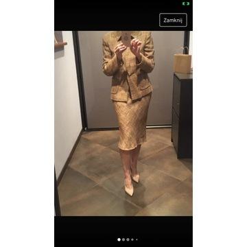 Deni Cler kostium żakiet+ spódnica rozm.38
