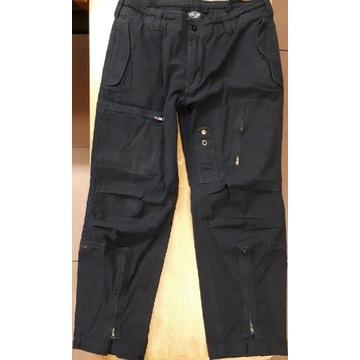 Spodnie bojówki MIL-TEC L męskie UNIKATOWE czarne