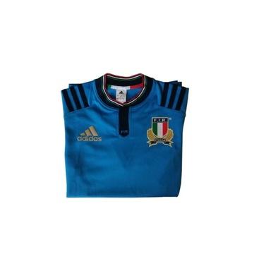 Koszulka italia i rugby ideał adidas