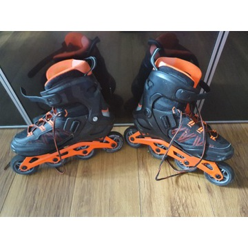 Rolki fitness męskie FIT500 acid orange OXELO, 42