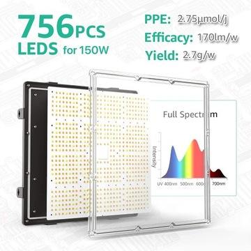 Lampa LED growbox 150W