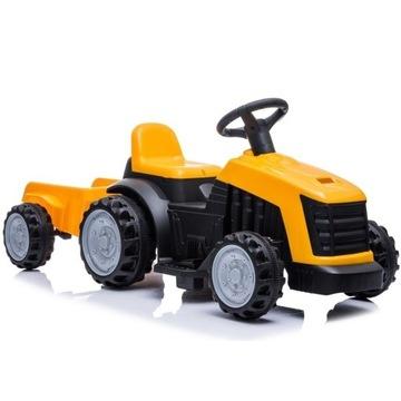 Traktor z Przyczepą na Akumulator TR1908T żółty