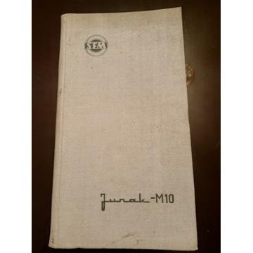 Motocykl Junak M10 wyd. 1961 instrukcja obsługi