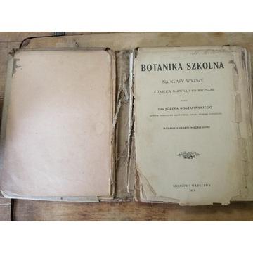 Stara książka BOTANIKA SZKOLNA