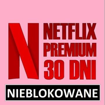 NETFLlX PREMIUM 30 DNI | NIEBLOKOWANE | GWARANCJA