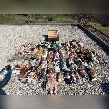 Zestaw 65 porcelanowych lalek, antyki, dolls,