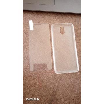 Etui silikonowe i szkło hartowane Nokia 3.1