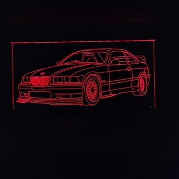 Lampka nocna LED na plexi BMW e36