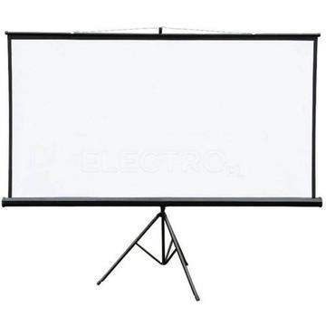 Ekran na statywie 4WORLD 186x105cm 84'' biały mat