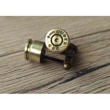 Spinki do mankietów 9mm LUGER oryginalne