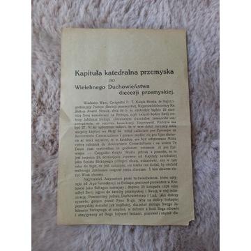 Kapituła katedralna przemyska Karol Józef Fischer