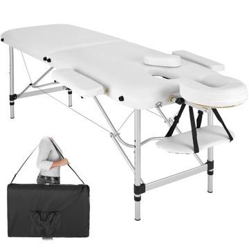 Stół do masażu 2-strefowy z tapicerką 4cm i alumin