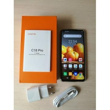 Oukitel C18 PRO, 4gb ram/64GB, 4 kamery, Nowy,z PL