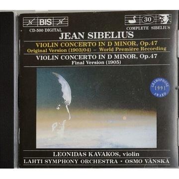 SIBELIUS - Violin Concerto, 2 wersje. Rzadkość!