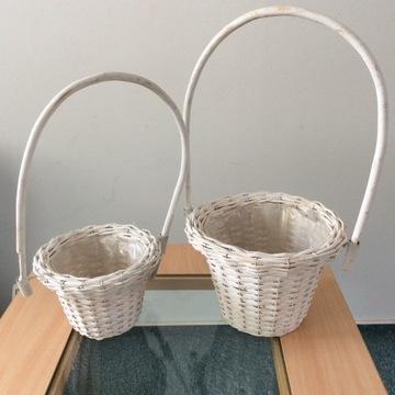 Koszyki z wikliny komplet