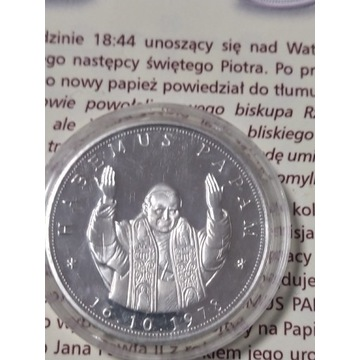 Medal Jan Paweł II - Habemus Papam.