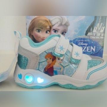 Adidasy świecące LED Frozen Kraina Lodu wkład13cm