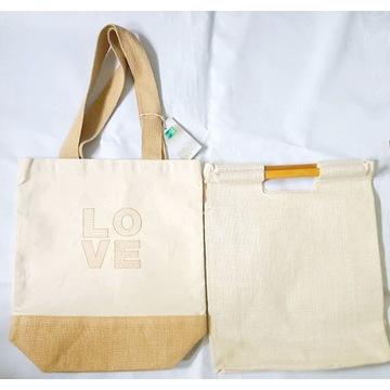 2 nowe torby jutowe