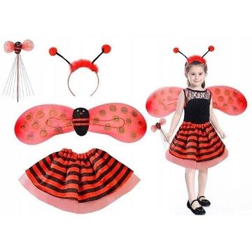 Nowe. Uroczy kostium biedronka dla dziewczynek