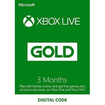 Xbox Live Gold 3 miesiące - KOD/KLUCZ
