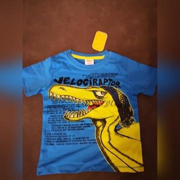 T-shirt bawełniany Dinozaur w rozmiarze 98