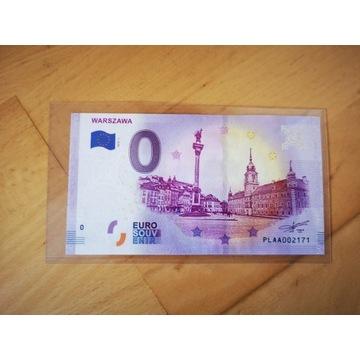 0 euro Warszawa banknot kolekcjonerski