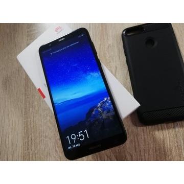 Ładny zadbany Huawei P-Smart + Etui i  szkło