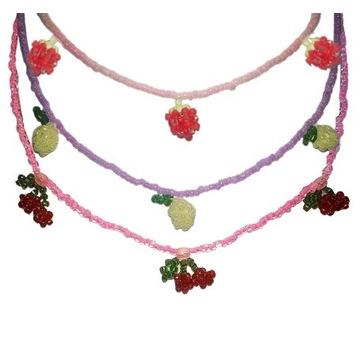 Naszyjniki handmade y2k owoce