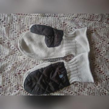 Cienkie rękawiczki bez palców oryginalny wzór