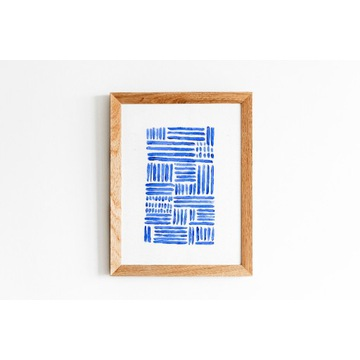 Grafika abstrakcyjna akryl A4 - Waves