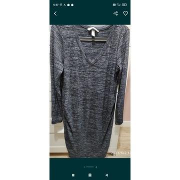 Sukienka ciążowa H&M Mama rozmiar L melanż