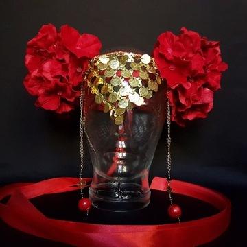 Wianek na głowę, róże, ślub, sesja, kwiaty