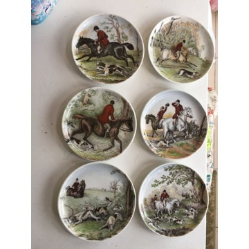 Talerzyki podstawki porcelana Kaiser polowanie