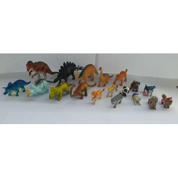 Figurki dinozaury, pieski i inne zwierzęta