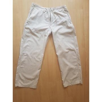 Spodnie bawełniano-lniane  H&M