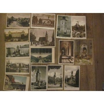 Przedwojenne pocztówki zestaw 49 sztuk