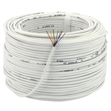 BITNER Przewód kabel alarm domofon YTDY 8x0,5 100m