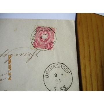 koperta NIEMCY DEUTSCHES REICH 1886 znaczek