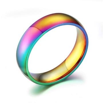 Komplet obrączek pierścionek stal chirurgiczna.WAW