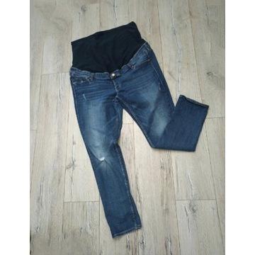 50 h&m spodnie dżinsy rurki ciążowe