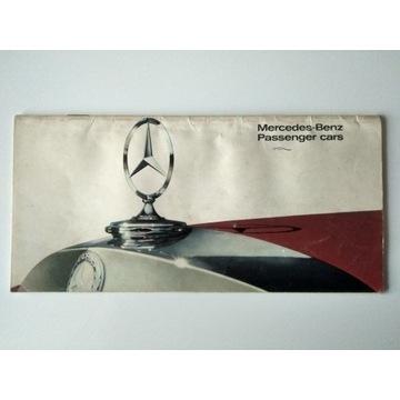 Prospekt Mercedes 200,230,250,300,600,250SL UNIKAT